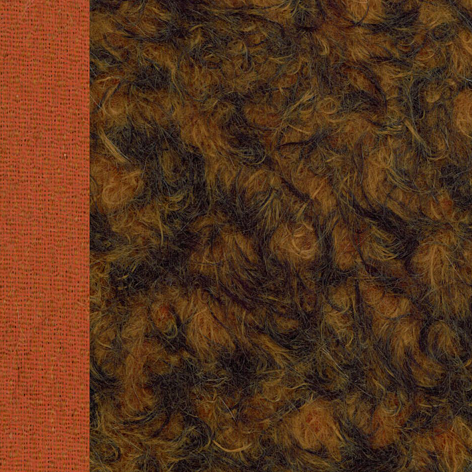 Antik-Art-Mohair langhaarsparse Orange-Gespitzt ±24 mm