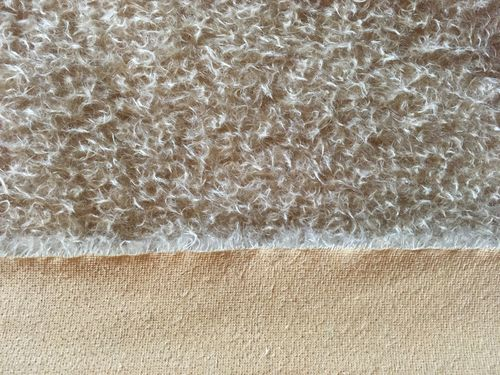 Antik-Art-Mohair ratinee helles beige ±23 mm